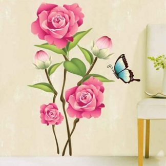 Wallsticker Pink roser