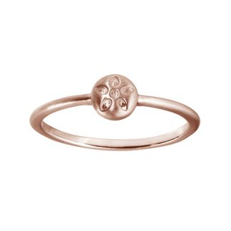 ByBiehl Signature ring rosa forgyldt