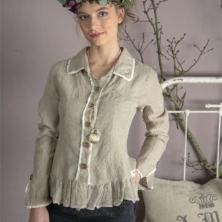 JDL Clothing - Bluse - Pure affections - Hørfarvet
