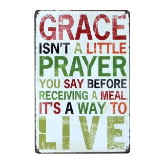 Emaljeskilt Grace - a way to Live