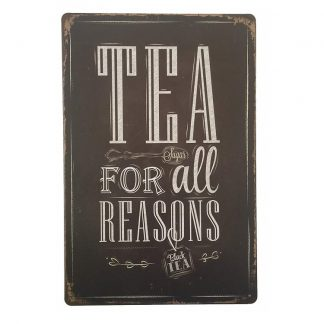 Emaljeskilt Tea for all reasons