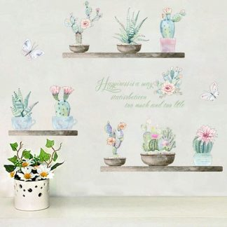 Wallsticker Kaktusser i potter