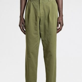 Double Pleat Chino Olive